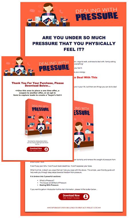 Pressure Sales Page