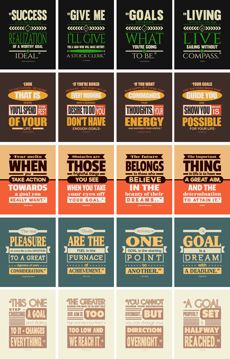 power-of-goals-posters
